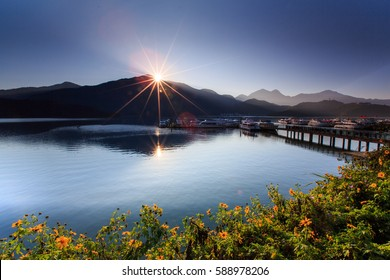 Sunrise , sun moon lake ,Taiwan
