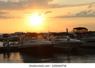 Sunrise Sunset Boats