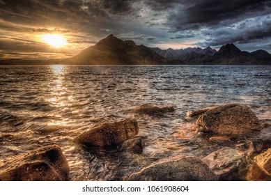 Sunrise / sunset at the Isle of Skye