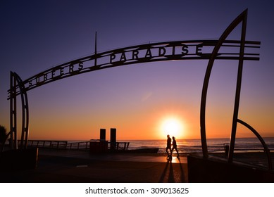 Sunrise in Surfers Paradise