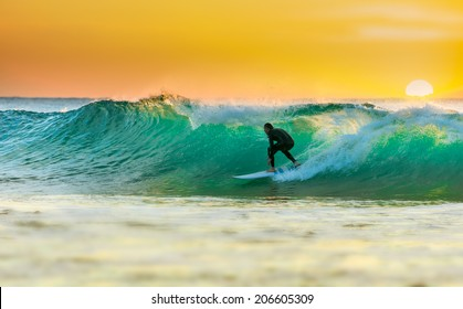 Sunrise Surfing