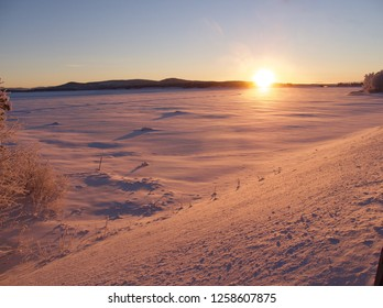 sunrise in Swedish lapland