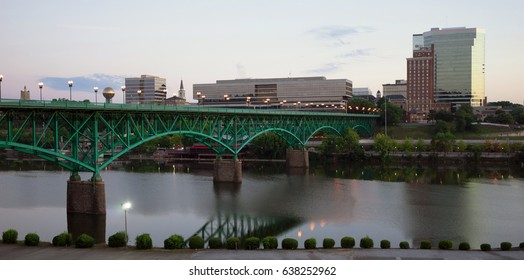 Sunrise Tennessee River Knoxville Downtown City Skyline