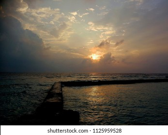 Sunrise in Thoddoo, Maldives