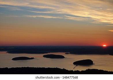Sunrise from the top of Cadillac Mountain Mount Desert Island Maine