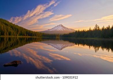 The Sunrise at Trillium Lake Oregon