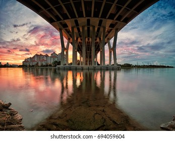 Sunrise under the bridge