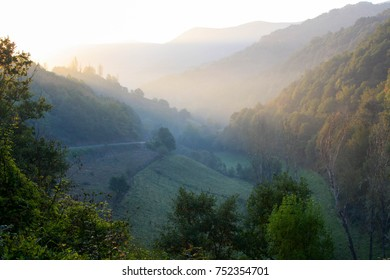 Sunrise in a valley