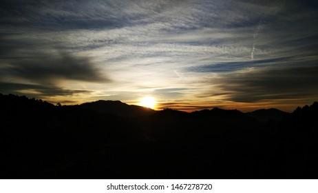 Sunrise view is beautifully captured in Kasauli, India