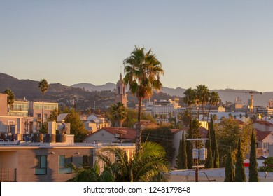 Sunrise view of City of Hollywood in Los Angeles, California