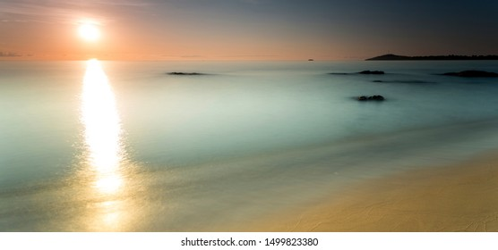 sunrise view at the Lake Malawi in Africa, Panorama
