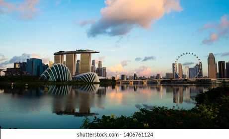 Sunrise view from Marina Bay East