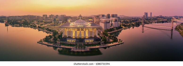 Sunrise view at Masjid Besi ( Iron Mosque) or Masjid Tuanku Mizan Zainal Abidin,Putrajaya,Malaysia