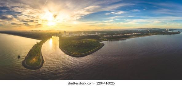 Sunrise View at Miri, Sarawak.
