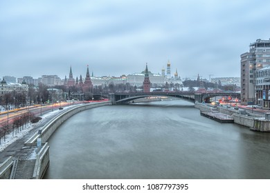 Sunrise view of Moscow Kremlin, Russia.