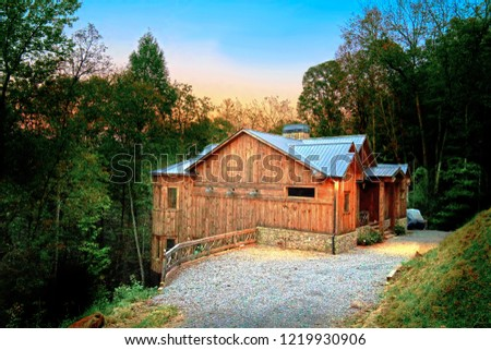 Sunrise View Mountain Cabin Blue Ridge Stock Photo Edit Now