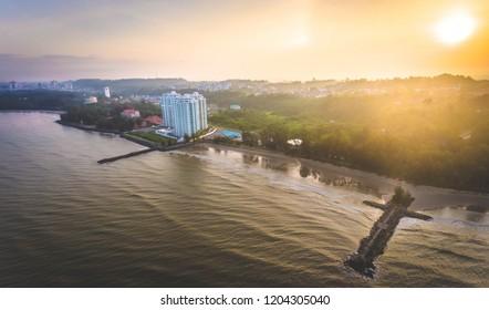 Sunrise View at Tanjong Lobang Beach Miri, Sarawak.