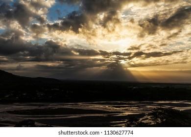 Sunrise in Villavicencio (Colombia).