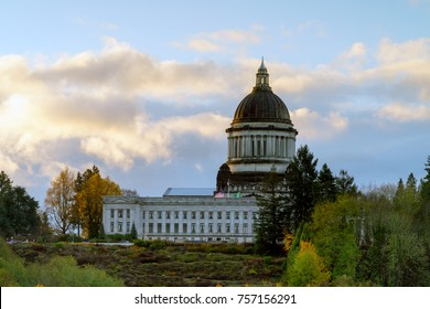 Sunrise At Washington State Capitol, Olympia Washington