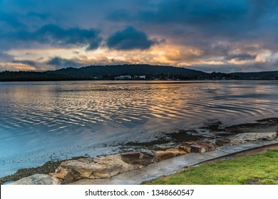 Sunrise Waterscape - After the Rain -  Woy Woy Waterfront on the Central Coast, NSW, Australia.