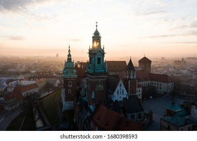 Sunrise in the Wawel Castle, Krakow, Poland