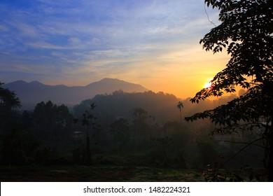 sunrise in Wayanad, Kerala, India