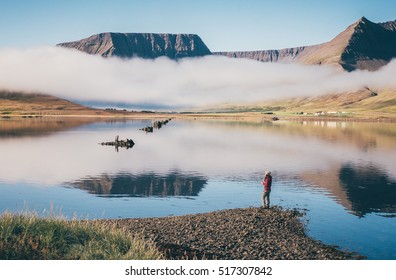 Sunrise at westfjord,Iceland