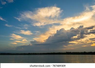 Sunrise at White Rock Lake in Dallas Texas.