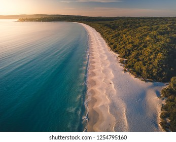 Sunrise at the whitest sand in the world, Hyams Beach, Jervis Bay Australia