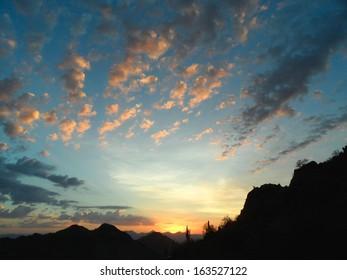 Sunrise wide-angle shot