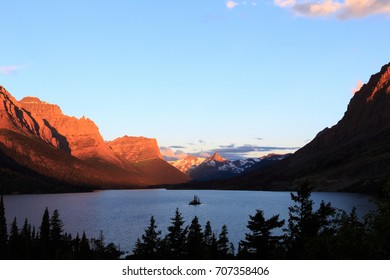 Sunrise from the Wild Goose Island overlook, Glacier National Park