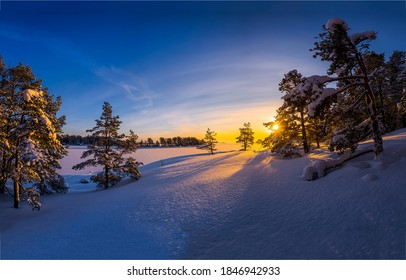 Sunrise in winter snow nature landscape outdoors - Shutterstock ID 1846942933