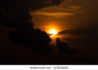 The sunrise of Yakushima reminiscent of the primitive
