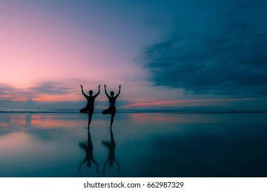 Sunrise Yoga Photo