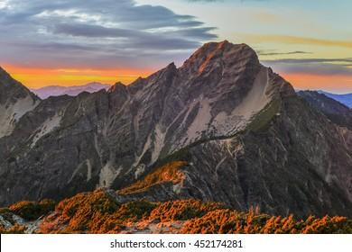 Sunrise at Yushan mountain, Taiwan