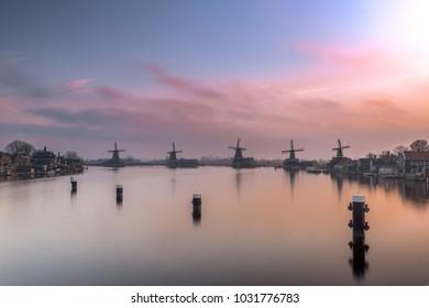 Sunrise Zaanse schans holland