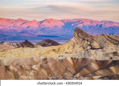 Sunrise at Zabriskie Point in Death Valley National Park, California, USA