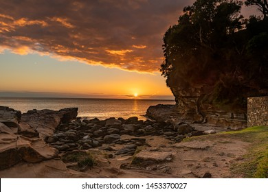 Sunrising from the Headland - A Seascape at Avoca Beach on the Central Coast, NSW, Australia.
