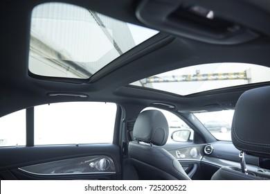 Sunroof detail inside the luxury car.