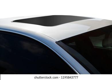 sunroof of grey car