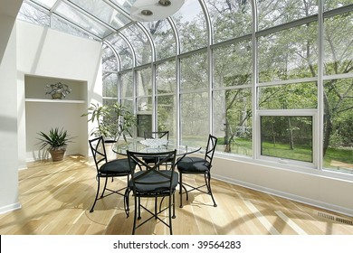 Sun-room with skylights