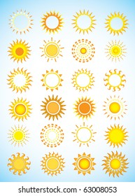 Suns. Elements for design.