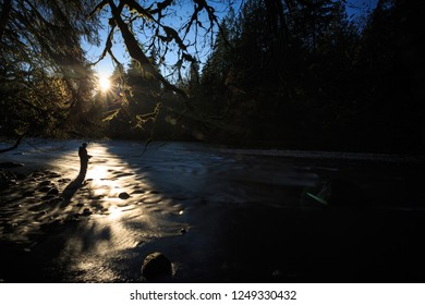 Suns Last Rays On The Green River