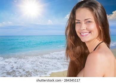 Sunscreen, sun, girl.