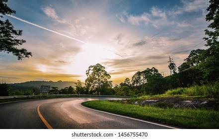 Sunset at 1095 Road, Pai-Pang Ma Pha ,Thailand