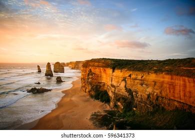 Sunset at 12 Apostels  - Great Ocean Road, Australia