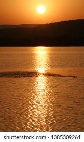 Sunset at Abant Lake in Bolu, Turkey.