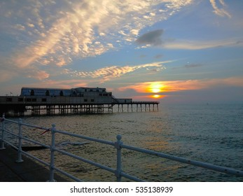 Sunset in Aberystwyth Wales UK