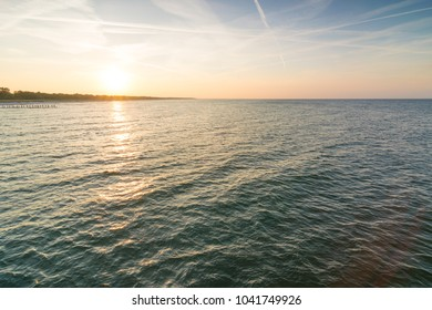 Sunset above the Baltic Sea of Germany