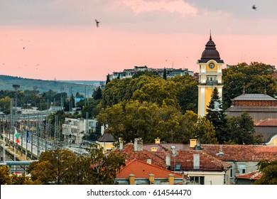 Sunset above Burgas, Bulgaria